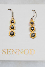 SENNOD TRUNK SHOW Diamond Flower Trio Earring