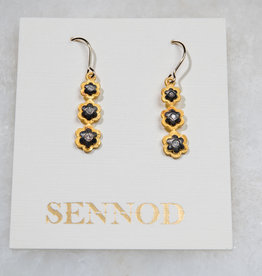 SENNOD TRUNK SHOW Diamond Flower Trio Earring