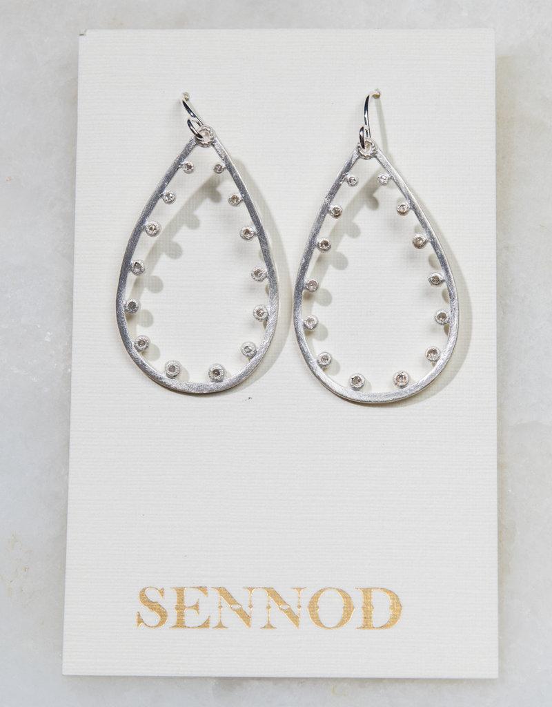 SENNOD Remy Teardrop Earring - Sterling
