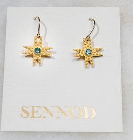 SENNOD TRUNK SHOW Pebble Star Earring - Blue Topaz