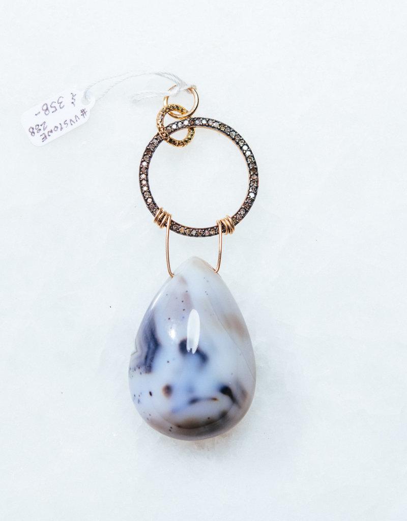 SENNOD Montana Agate with Diamond Ring Vignette