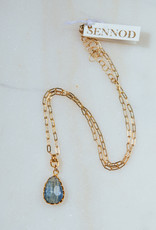 """SENNOD TRUNK SHOW Kyanite on Gold Chain Necklace 18-20"""""""