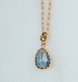 SENNOD TRUNK SHOW Kyanite on Gold Chain Necklace 18-20""