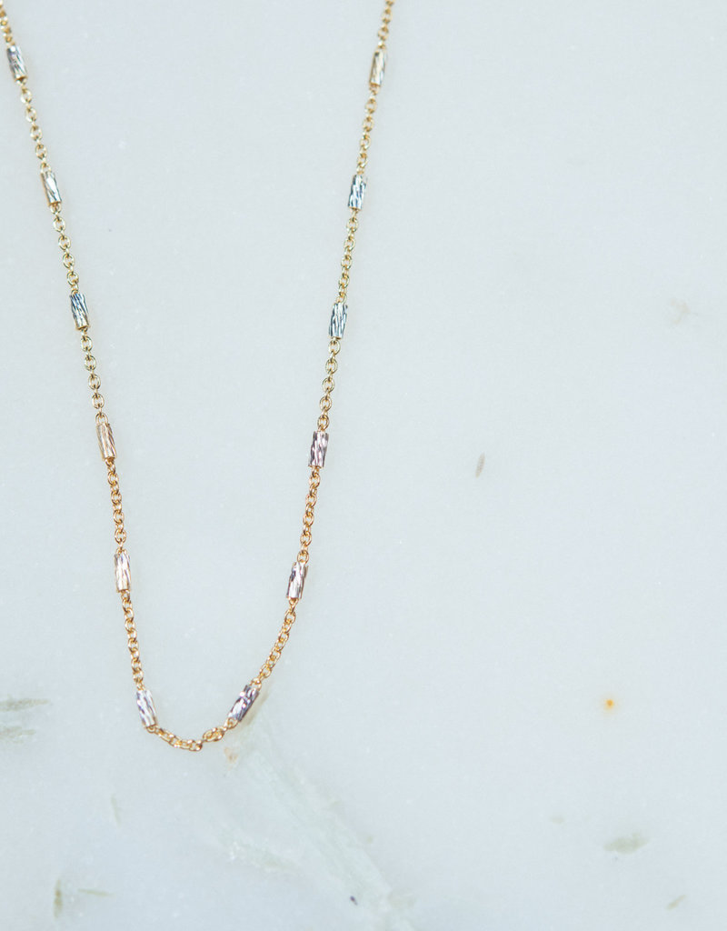 "SENNOD 36"" Silver and Gold Fine Layering Chain"