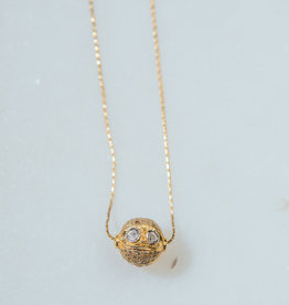 SENNOD TRUNK SHOW Diamond Slice Ball Necklace 15 - 17""