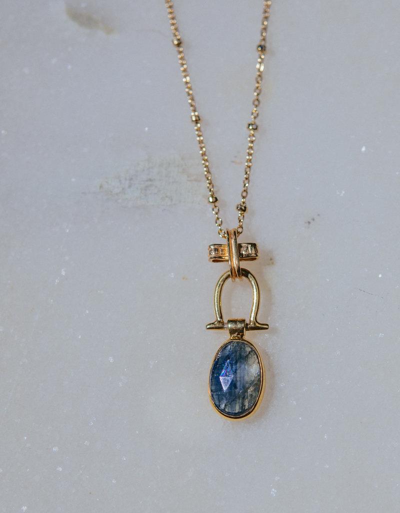 "SENNOD TRUNK SHOW Kyanite Necklace 16-18"""