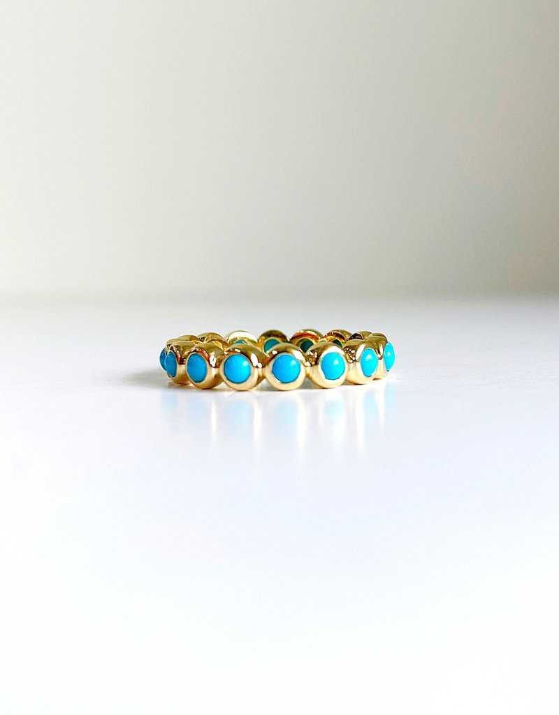 LAUREN FINE JEWELRY Turquoise Eternity Band Ring