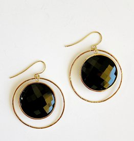 SHAESBY Mariposa Large Coin Earring