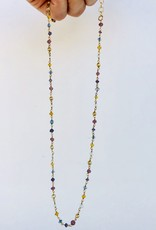 """SENNOD Assorted Stone Chain Necklace - 18"""""""