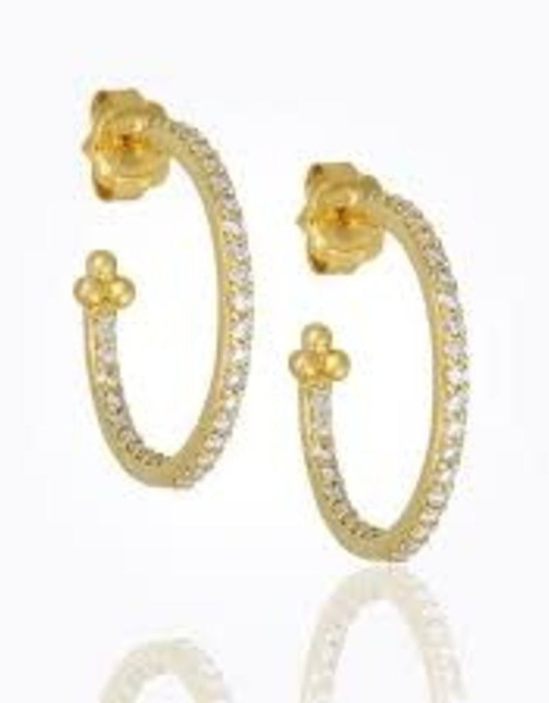 TEMPLE ST CLAIR Small Pave Diamond Hoops