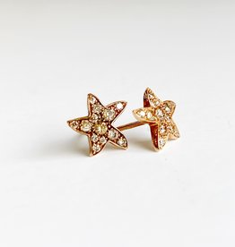 DODO Brown Diamond Starfish Earrings