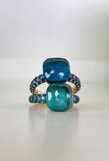 POMELLATO Nudo Deep Blue Ring - Sky Blue Topaz
