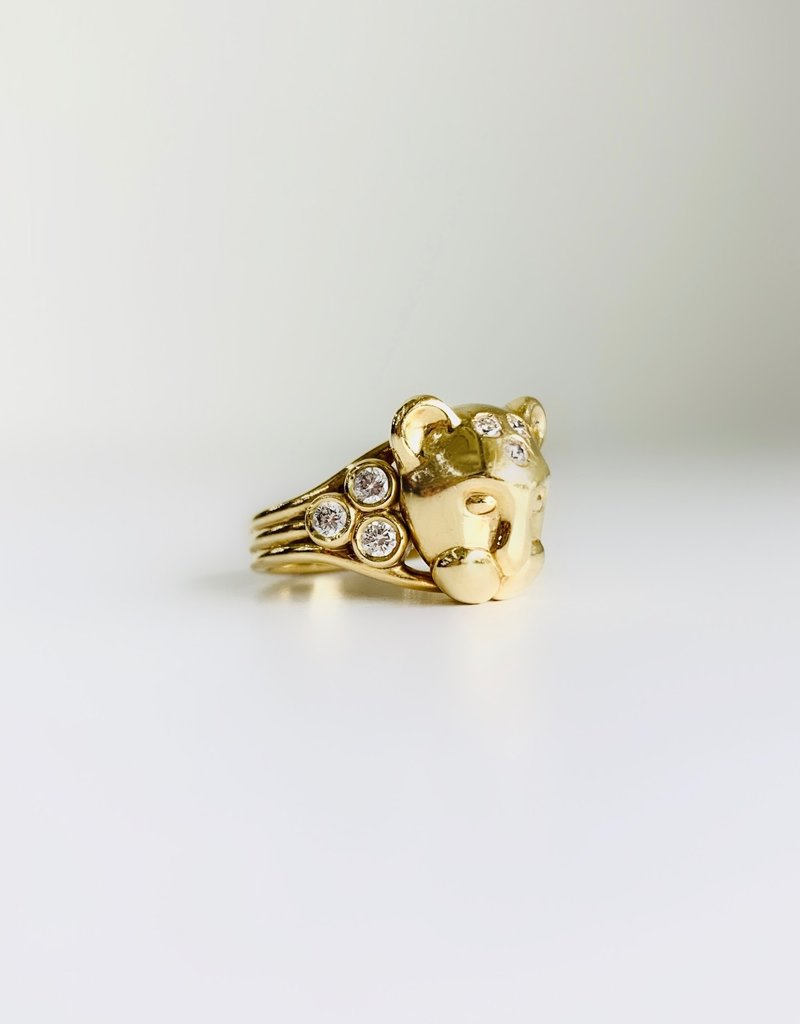 TEMPLE ST CLAIR Lion Cub Ring with Diamonds