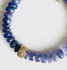 SYDNEY EVAN Tanzanite & Diamond Rondelle Bracelet