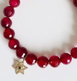 SYDNEY EVAN Natural Ruby & Star of David Bracelet