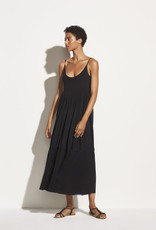 VINCE Gathered Knit Cami Dress - Black