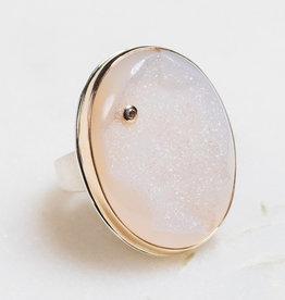 JAMIE JOSEPH Bali Drusy Ring with Diamond