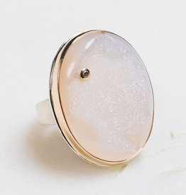 JAMIE JOSEPH Bali Drusy with Diamond Ring