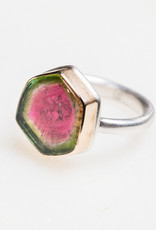 JAMIE JOSEPH Small Watermelon Tourmaline Ring