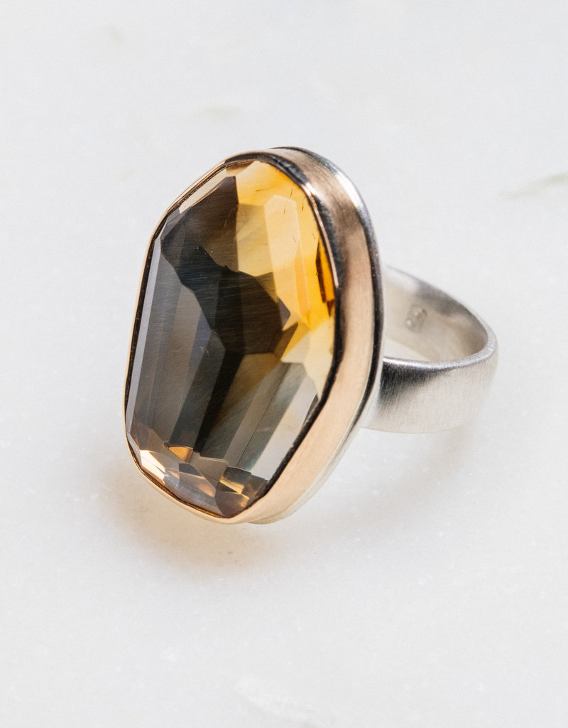 JAMIE JOSEPH Vertical Asymmetrical Citrine Ring