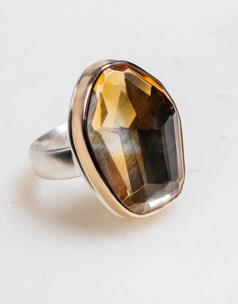 JAMIE JOSEPH Asymmetrical Citrine Ring