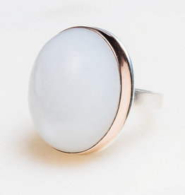 JAMIE JOSEPH Oval White Moonstone Ring