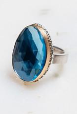 JAMIE JOSEPH Sky Blue Topaz Ring