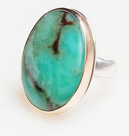JAMIE JOSEPH Vertical Oval Chrysoprase Ring