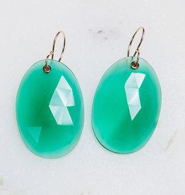 JAMIE JOSEPH Green Onyx Earring
