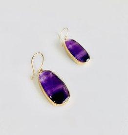 JAMIE JOSEPH Amethyst 1-O-K Earrings