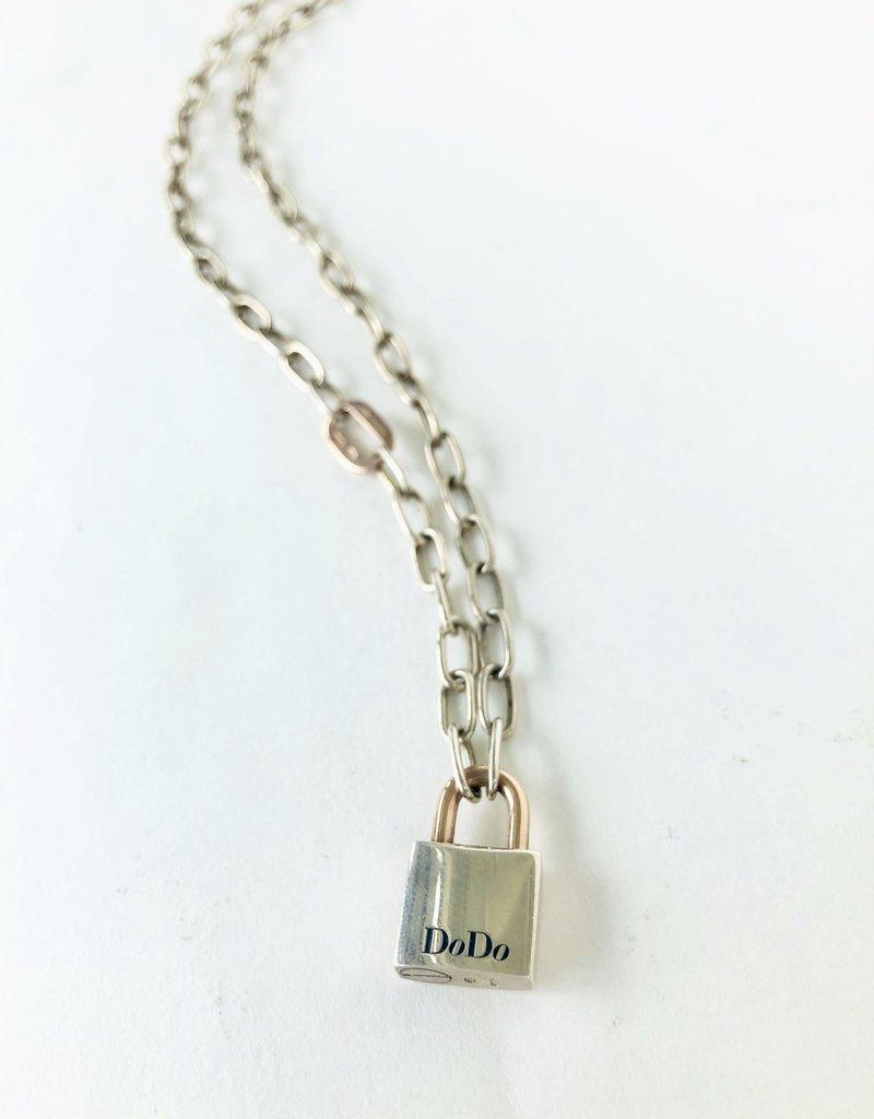 """DODO 19"""" Silver Lock Chain"""