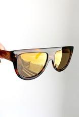 CELINE 4001 Flat Top Aviator - Blonde Havana/Gold Lens