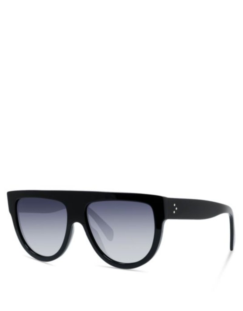 CELINE 4001 Flat Top Aviator - Black Polarized