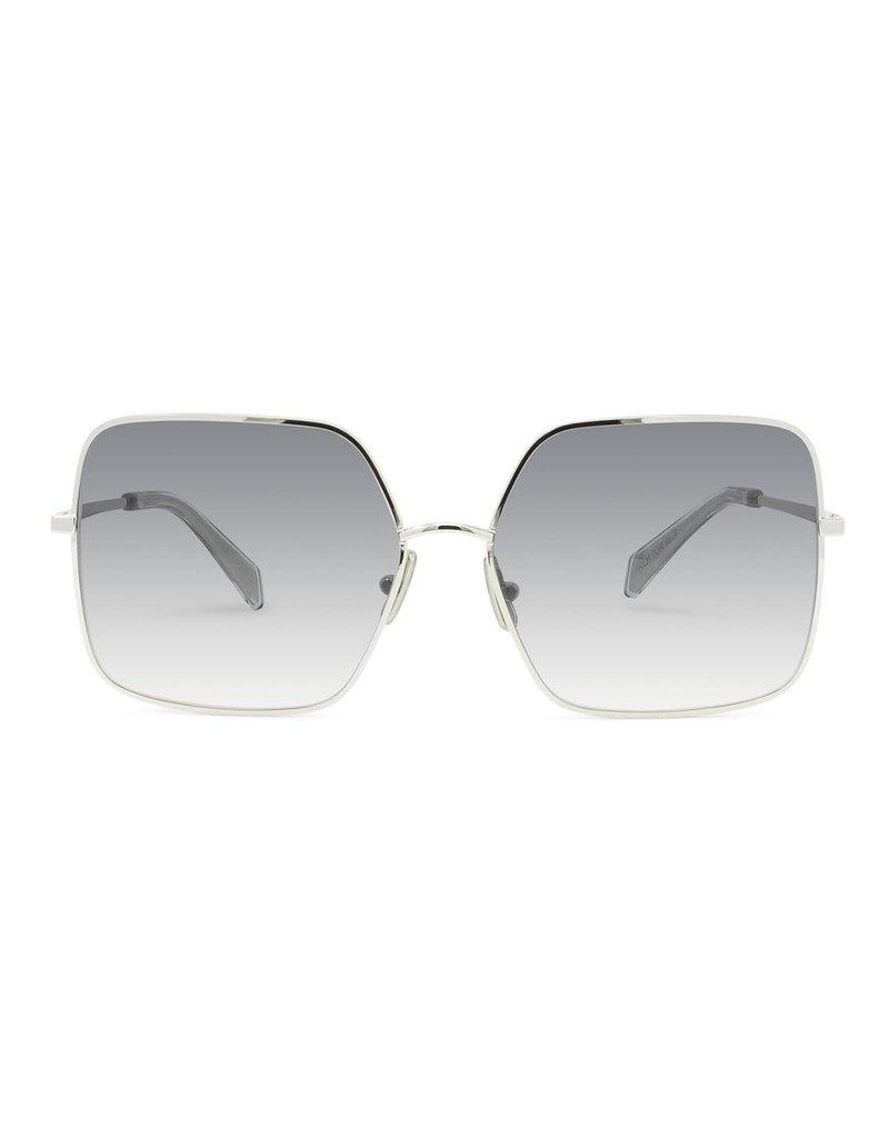 CELINE 40078 Metal Square - Silver/Blue Gradient Lens