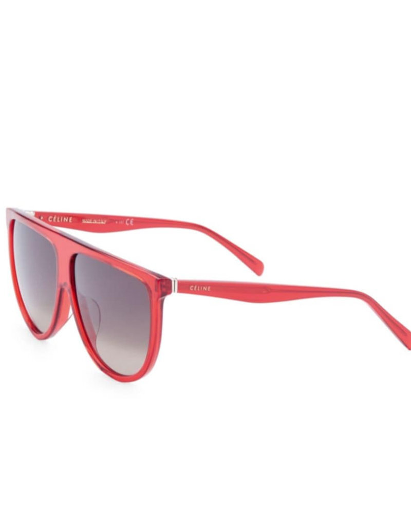 CELINE 40006 Thin Flat Top Shield  - Red