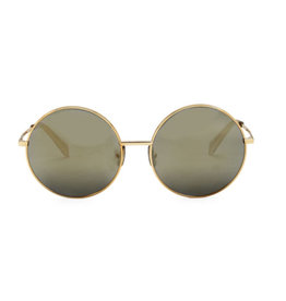CELINE 40076 Metal Oversized Round - Gold with Smoke Lens