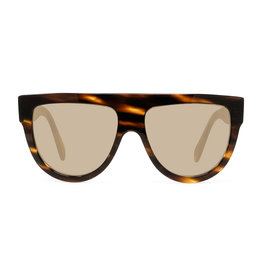 CELINE 4001 Flat Top Aviator - Blonde Havana/Gold Lens
