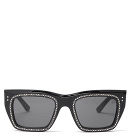 CELINE 4082 Embellished Square - Black with Crystal Studs
