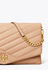 TORY BURCH Kira Chevron Clutch - Devon Sand