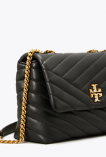 TORY BURCH Kira Chevron Small Convertible Shoulder Bag - Black