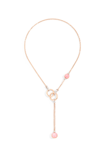 POMELLATO Nudo Rose Quartz Lariat Necklace