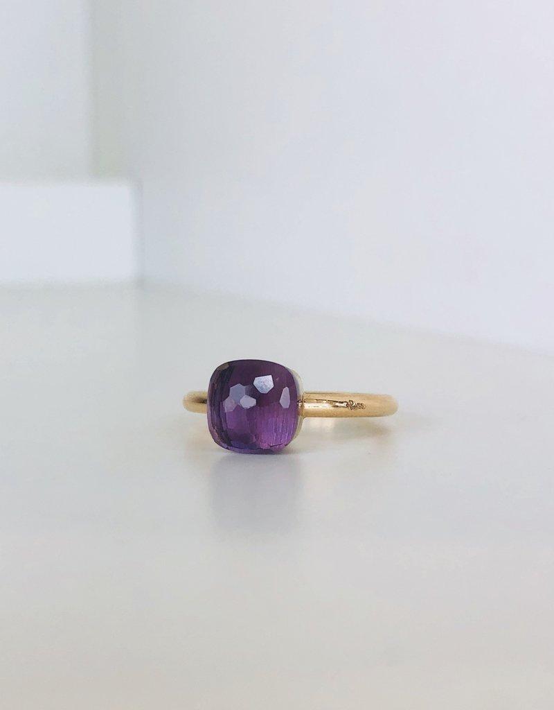 POMELLATO Amethyst Petit Nudo Ring