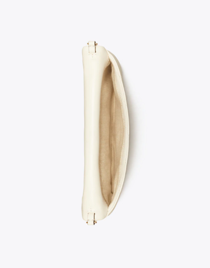 TORY BURCH Kira Chevron Clutch - New Ivory