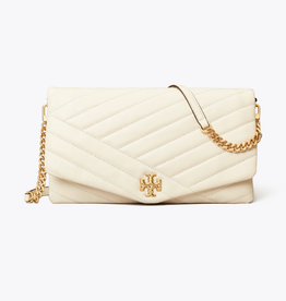 TORY BURCH Kira Chevron Clutch - New Ivory