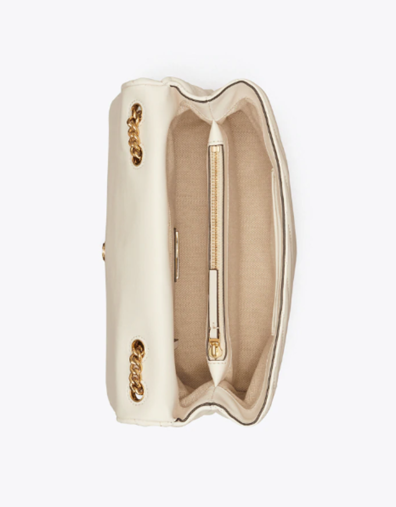 TORY BURCH Kira Chevron Convertible Shoulder Bag - New Ivory