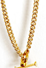"""SENNOD Curb Chain with Kettle Bellring + Pebble Bar - 22"""" Necklace"""