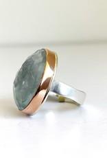 JAMIE JOSEPH Asymmetrical Blue Topaz Ring