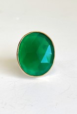 JAMIE JOSEPH Oval Green Onyx Ring