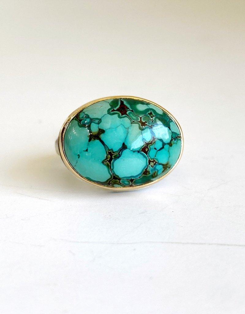 JAMIE JOSEPH Oval Hubei Turquoise Ring