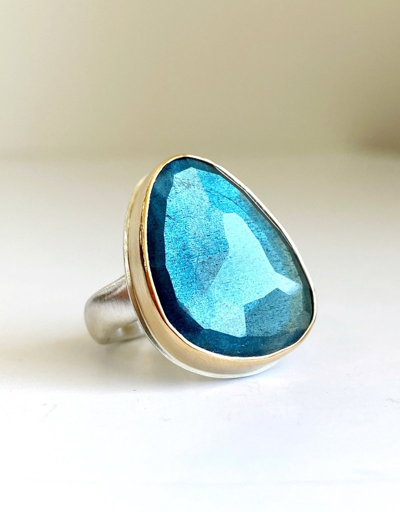 JAMIE JOSEPH Asymmetrical Moss Aquamarine Ring